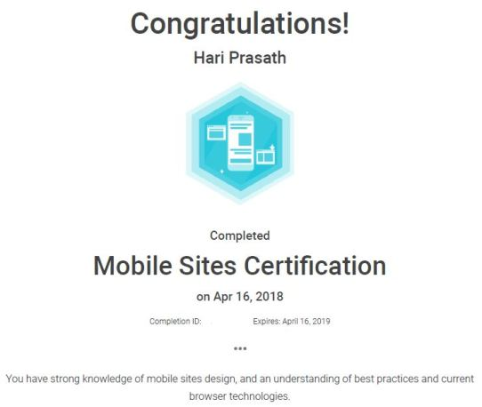 Mobile Sites Assessment
